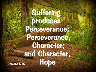 suffering produces perseverance; perseverance, character; and character, hope